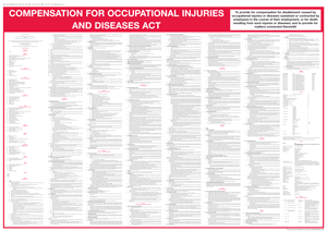 Compensation for Occupational Injuries and Diseases Act Wall Chart