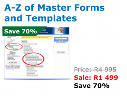 A to Z of Master Forms and Templates