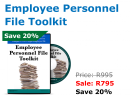 Employee Personnel Toolkit