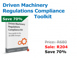 Driven machinery Regulations Compliance Toolkit