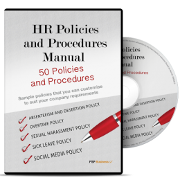 HR Policies and Procedures Manual - All the HR policies and procedures you need to keep your company on the right side of the law
