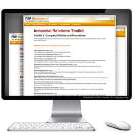 Industrial Relations Toolkit - Instant access to downloadable employment contracts, policies and forms