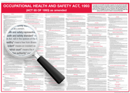 Occupational Health and Safety Act Wall Chart
