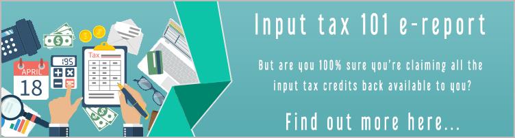 Input tax 101