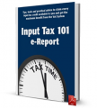 Input tax 101 e-report - 34 Input tax savings