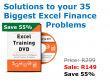 Solutions to your Excel Finance Problems - Excel Training DVD