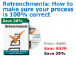 Retrenchments: How to make sure your process is 100% correct