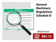 General Machinery Regulations Schedule D Wall Chart