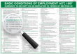 The Basic Conditions of Employment Act Wall chart